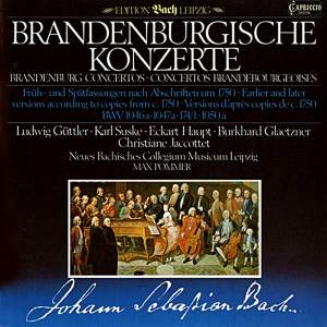 JS Bach: Brandenburg Concerto No. 2 in F Major (early version) Product Image