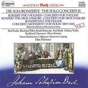JS Bach: Solo Concertos, Vol. 3 Product Image
