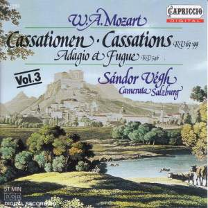 Mozart: Cassations, K. 63 and 99 Product Image
