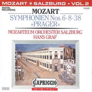 Mozart: Symphonies Nos. 6, 8 & 38 Product Image