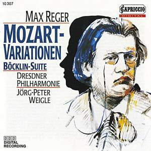 Reger: Variations and Fugue on a Theme of Mozart & 4 Tondichtungen nach Arnold Bocklin Product Image