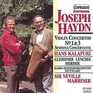 Haydn: Violin Concertos Nos. 1 & 3 Product Image