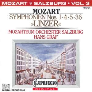 Mozart: Symphonies Nos. 1, 4, 5, 36, 'Linzer' Product Image