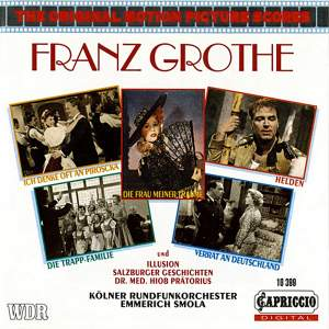 The Original Motion Pictures Scores: Franz Grothe Product Image
