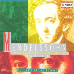 Mendelssohn: String Symphonies Nos. 9, 10, 12 Product Image