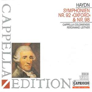 Haydn: Symphonies Nos. 92 & 98 Product Image