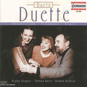 Mendelssohn, Felix / Schumann, R. / Reger, M.: Duets Product Image