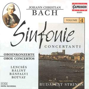 Bach, J.C.: Sinfonie Concertanti, Vol. 4 Product Image