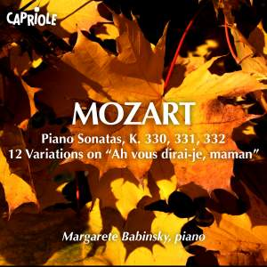Mozart: Piano Sonatas Nos. 10 - 12 Product Image