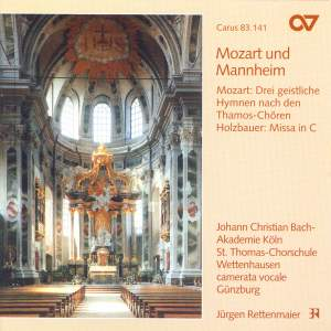 Mozart: Three hymns from Thamos & Holzbauer: Mass in C major Product Image
