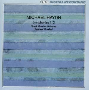 Michael Haydn: Symphonies Nos. 1-3