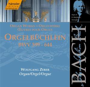Bach, J S: Chorale Preludes I, BWV599-644 'Orgelbüchlein'