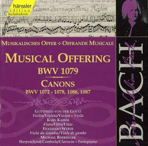 JS Bach: Musical Offering & Canons