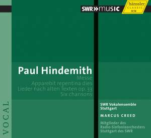 Hindemith: Messe, Six Chansons, Apparebit repentina dies