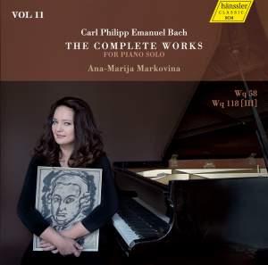 C.P.E. Bach: The Complete Works for Piano Solo, Vol. 11