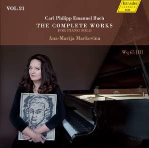C.P.E. Bach: The Complete Works for Piano Solo, Vol. 21