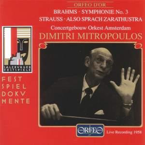 Brahms: Symphony No. 3 & Strauss: Also sprach Zarathustra