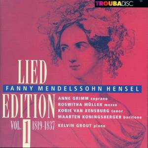 Mendelssohn-Hensel: Lied Edition, Vol. 1