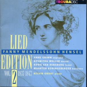 Mendelssohn-Hensel: Lied Edition, Vol. 2