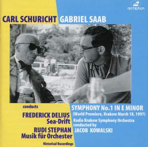 Saab, Delius and Stephan: Works for Orchestra