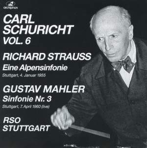 Schuricht conducts Mahler and Strauss Product Image
