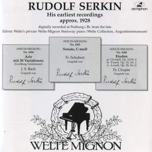 Rudolf Serkin: His earliest recordings