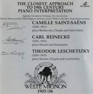 19th Century Pianists on Welte Mignon Product Image