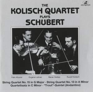 The Kolisch Quartet Plays Schubert