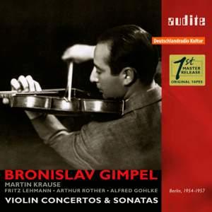 Bronislaw Gimpel: Violin Concertos & Sonatas