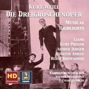Weill: Die Dreigroschenoper – Musical Highlights (Remastered 2017)