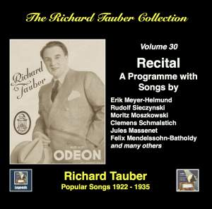 The Richard Tauber Collection, Vol. 30: Popular Songs (1922-1935) [Remastered 2017]