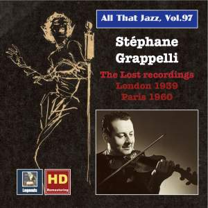 All That Jazz, Vol. 97: Stéphane Grappelli – The Lost Recordings