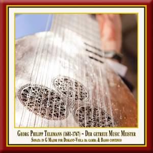Telemann: Viola da gamba sonata in G major, TWV 41:G6 Product Image
