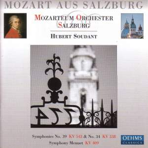 Mozart: Symphonies Nos. 34 & 39 and Menuet in C Major Product Image