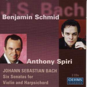 JS Bach: 6 Sonatas for Violin and Harpsichord Product Image