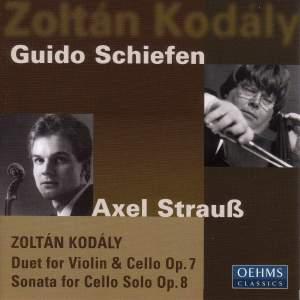 Kodaly: Duo & Cello Sonata Product Image