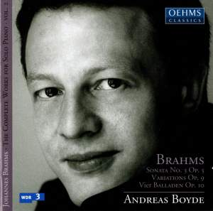 Brahms: Complete Works for Solo Piano Volume 2 Product Image