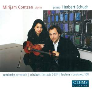 Schubert, Zemlinsky & Brahms: Works for Piano and Violin