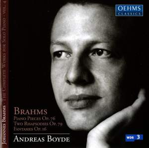 Brahms: Complete Works for Solo Piano Volume 4 Product Image