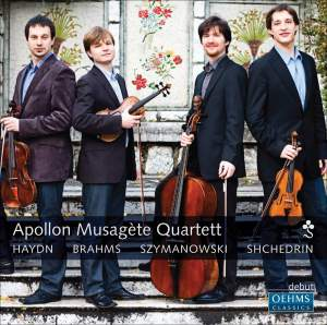 Apollon Musagáte Quartett play Haydn, Brahms, Szymanowski & Shchedrin