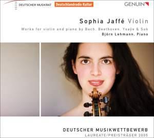 Sophia Jaffé plays Beethoven, Bach, Suk & Ysaÿe