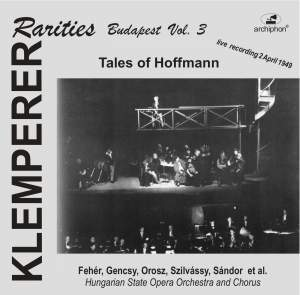 Klemperer Rarities: Budapest, Vol. 3 (1949) Product Image