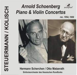 Schoenberg: Piano and Violin Concertos