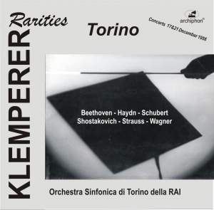 Klemperer Rarities: Torino (1956) Product Image