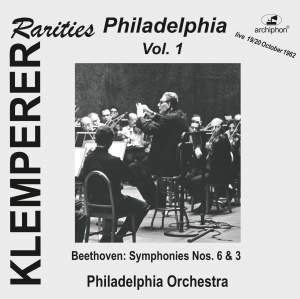 Klemperer Rarities: Philadelphia, Vol. 1 Product Image