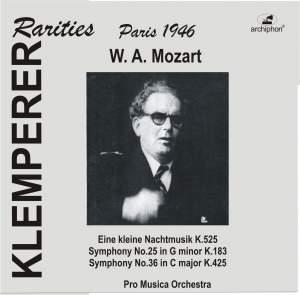 Mozart: 'Eine kleine Nachtmusik', Symphonies Nos. 25 & 36 Product Image