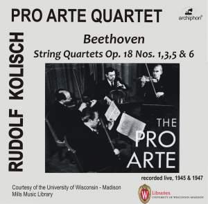 Beethoven: String Quartets Op. 18 Nos. 1, 3, 5 & 6