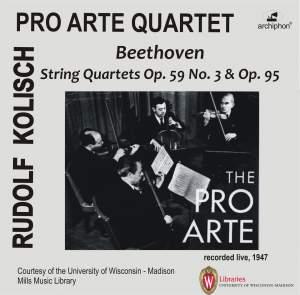 Beethoven: String Quartets Nos. 9 & 11