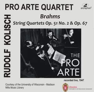 Brahms: String Quartets Opp. 51 & 67 (Live)