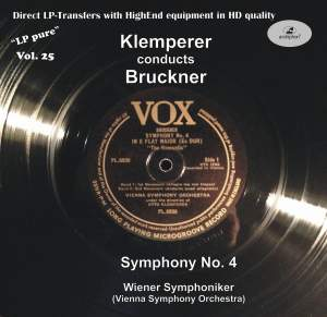 LP Pure, Vol. 25: Klemperer Conducts Bruckner Product Image